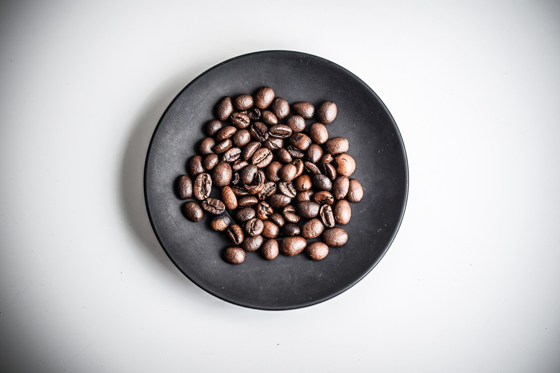 Coffee Beans on a plate