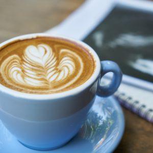 Latte Art Rosetta Blue Cup Notebook